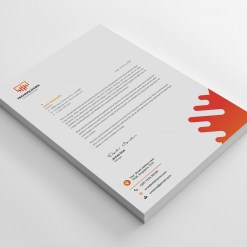 Electronic Professional Corporate Letterhead Template