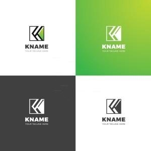 K Name Professional Logo Design Template