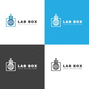 Lab Box Creative Logo Design Template