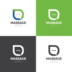 Message Creative Logo Design Template