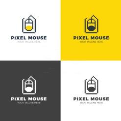 Pixel Mouse Creative Logo Design Template