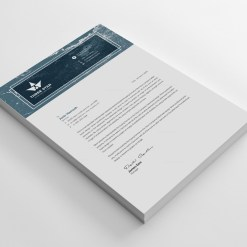 Three Star Professional Corporate Letterhead Template