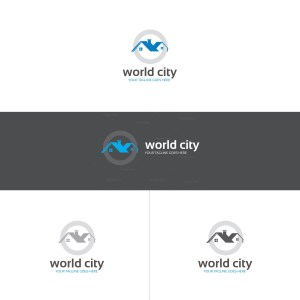 World City Real Estate Logo Design Template