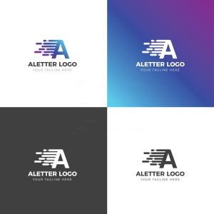A Letter Creative Logo Design Template