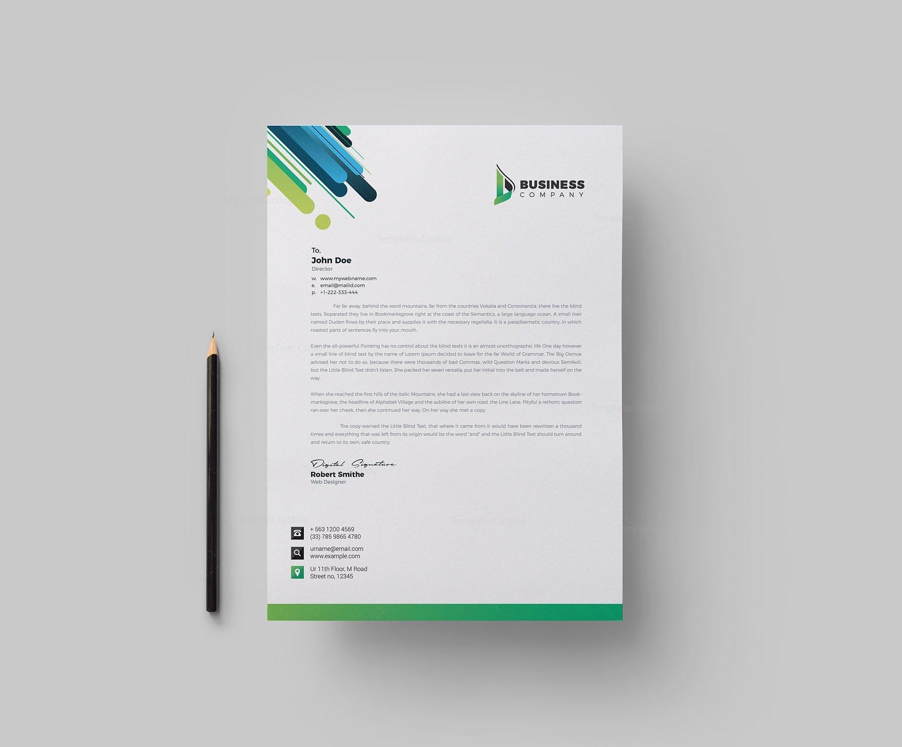 best corporate letterhead design template 002165