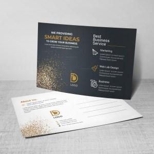 Black Corporate Postcard Design Template