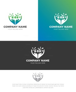 Charity Stylish Logo Design Template