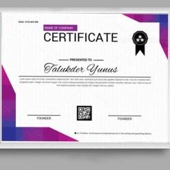 Classic Certificate Design Template