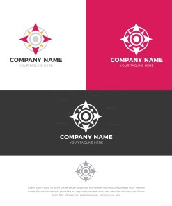 Compass Stylish Logo Design Template