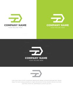 D Stylish Logo Design Template