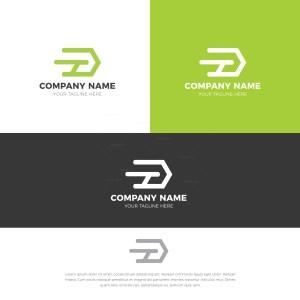 D Stylish Logo Design Template