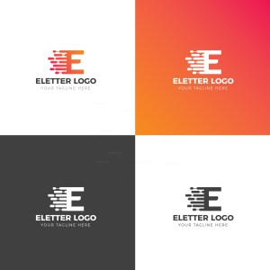 E Creative Logo Design Template