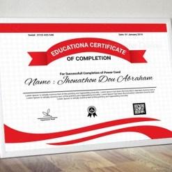 Educational Certificate Design Template