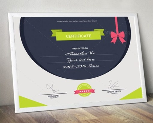 Elegant Certificate Design Template