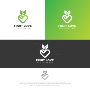 Fruit Stylish Logo Design Template