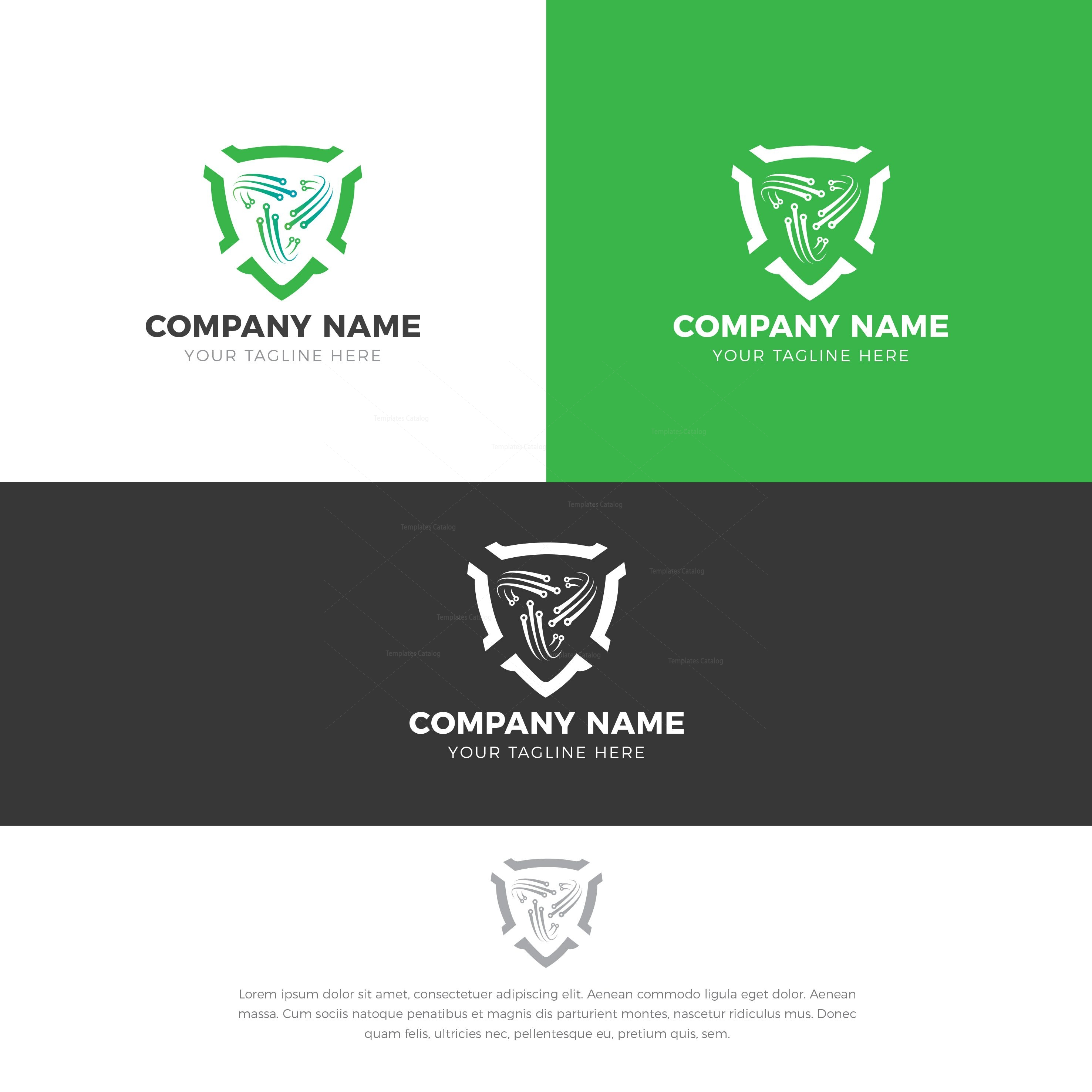 Green Shield Creative Logo Design Template