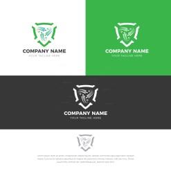 Green Shield Creative Logo Design Template