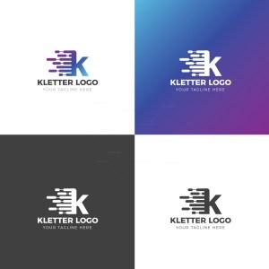 K Letter Creative Logo Design Template