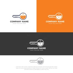 Locksmith Logo Design Template