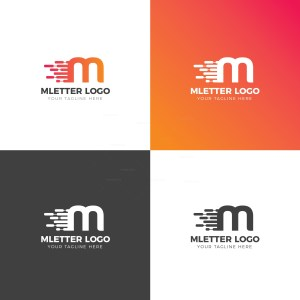 M Lower Case Creative Logo Design Template