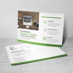 Message Corporate Postcard Design Template