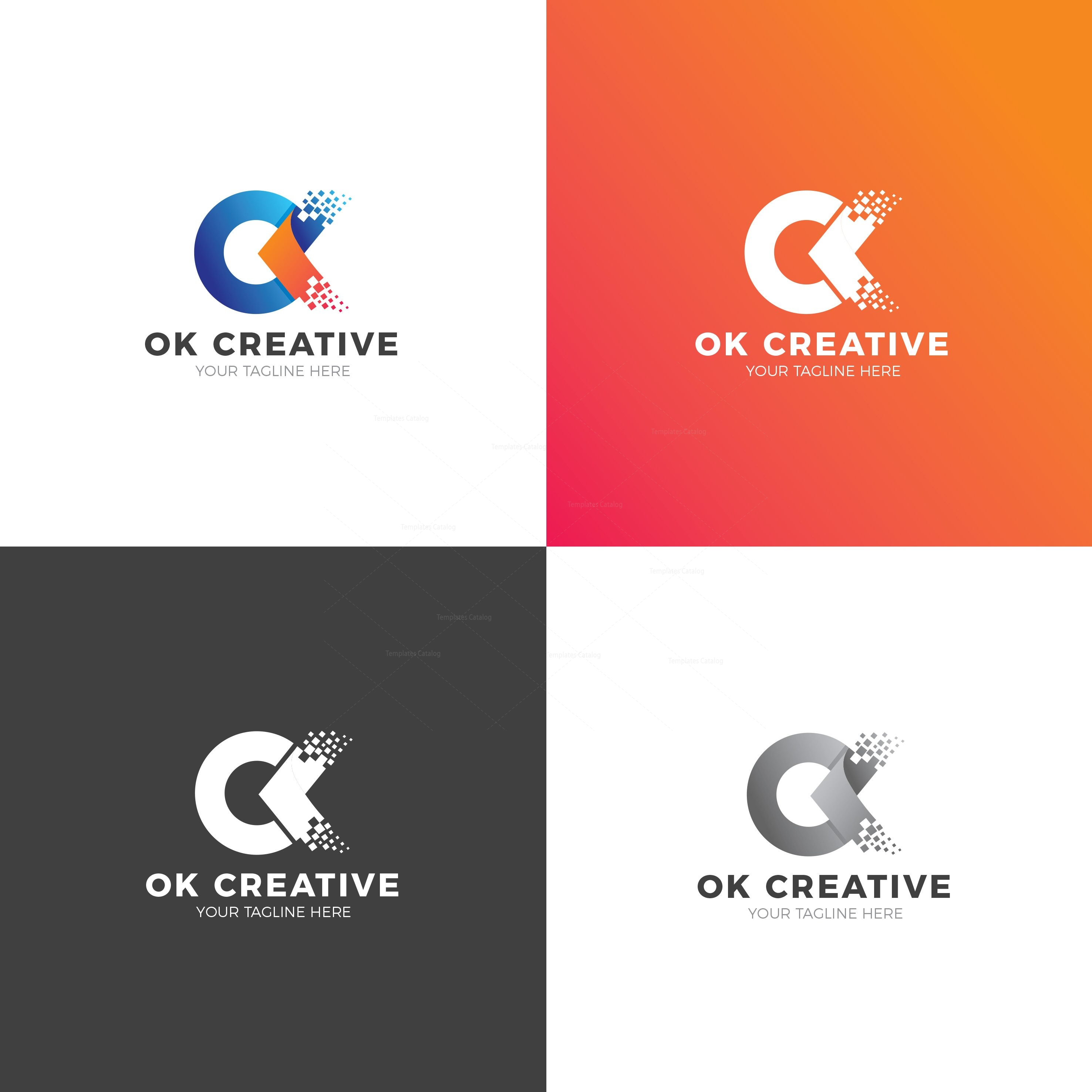 okay modern logo design template 002001