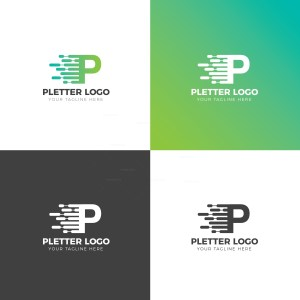 P Creative Logo Design Template