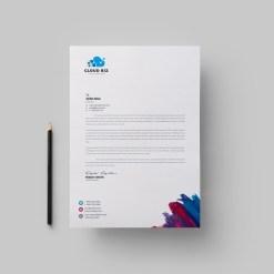 Paint Corporate Letterhead Design Template