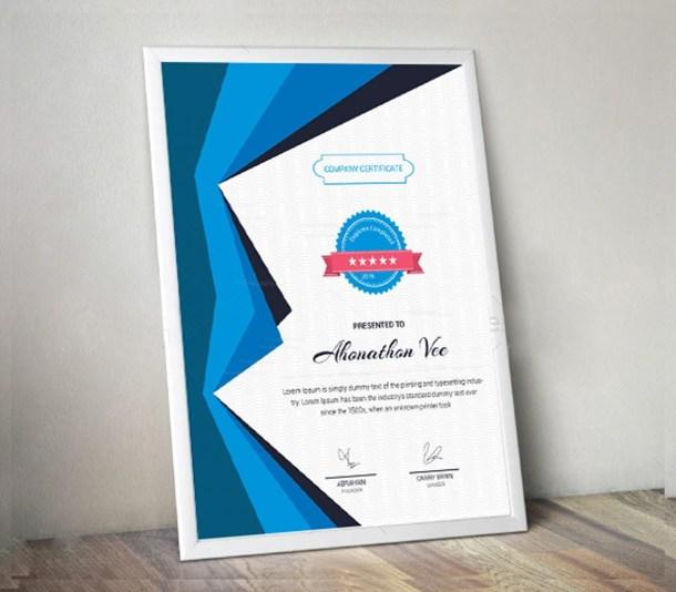 Portrait Certificate Design Template