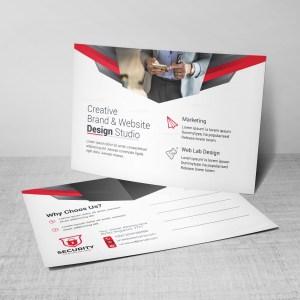 Security Corporate Postcard Design Template