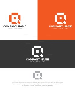 Square Stylish Logo Design Template