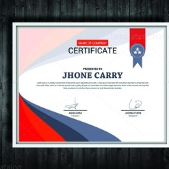 Stylish Certificate Design Template
