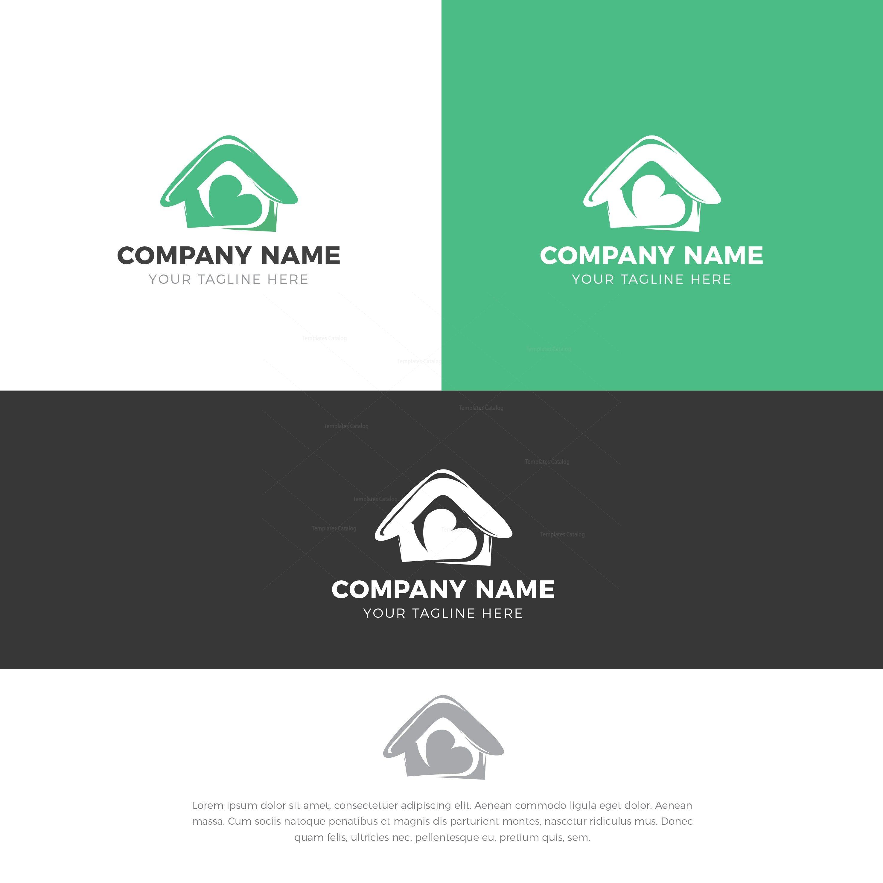 Sweet Home Logo Design Template