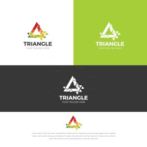Triangle Stylish Logo Design Template