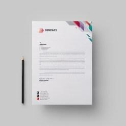 Vivid Corporate Letterhead Design Template