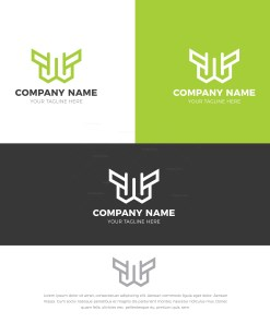 W Stylish Logo Design Template
