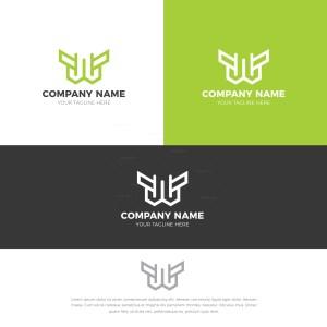 W Stylish Logo Design Template