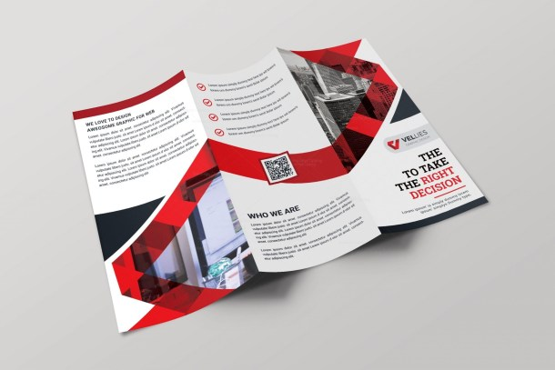 EPS Professional Tri-fold Brochure Design Template