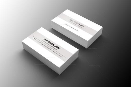 Minimal Retail Business Card Design