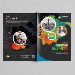 Art Bi-Fold Brochure Template