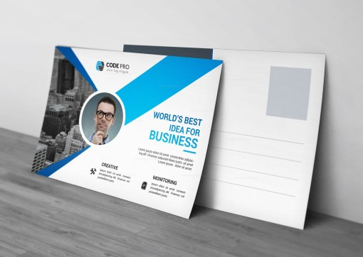 Construction Postcard Template