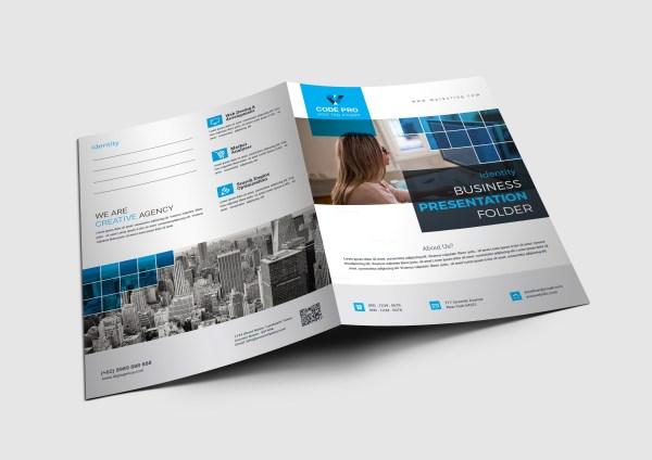 Corporation Presentation Folder Template