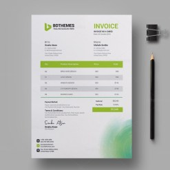 Environment Invoice Design Template