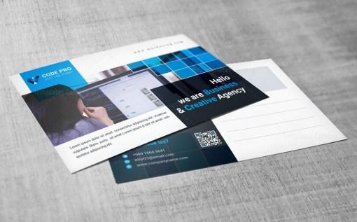Marketing Postcard Design Template