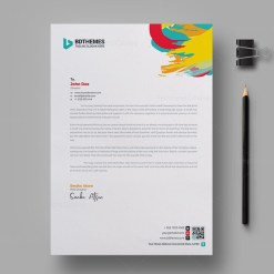 Retail Letterhead Design Template