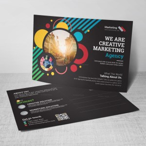 Tourism Corporate Postcard Template
