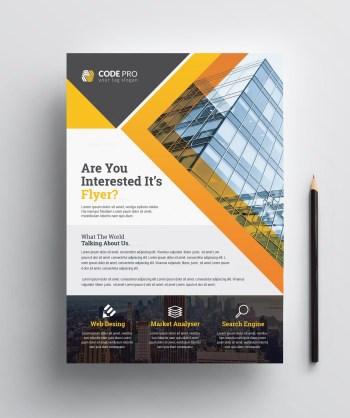 Construction Print Flyer Template