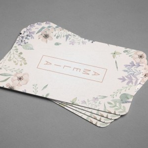 Flower Vertical Business Card Design