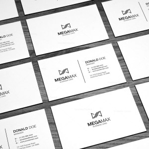 Minimal Black & White Business Card Design