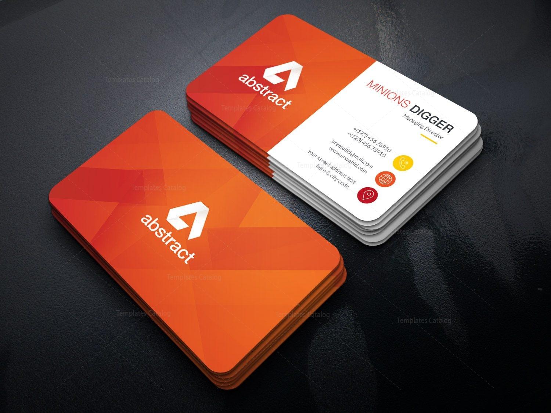 orange business card design 002425  template catalog